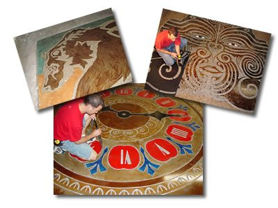 Custom Design Decorative Concrete Engraving