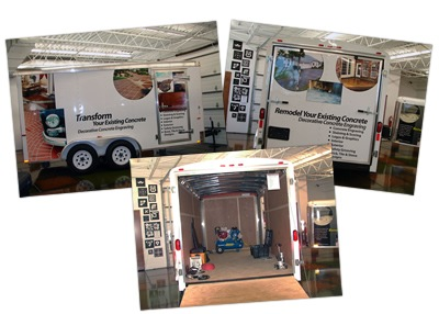 Tradesman Trailer | Decorative Concrete Engraving | Business Opportunity