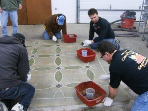 Students Staiin Decorative Concrete