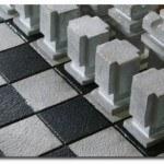 Decorative Concrete Chess Set